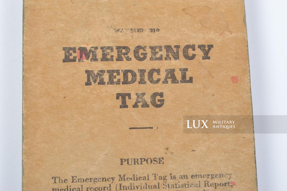 US Navy Corpsman Emergency Medical Tags Booklet - photo 8