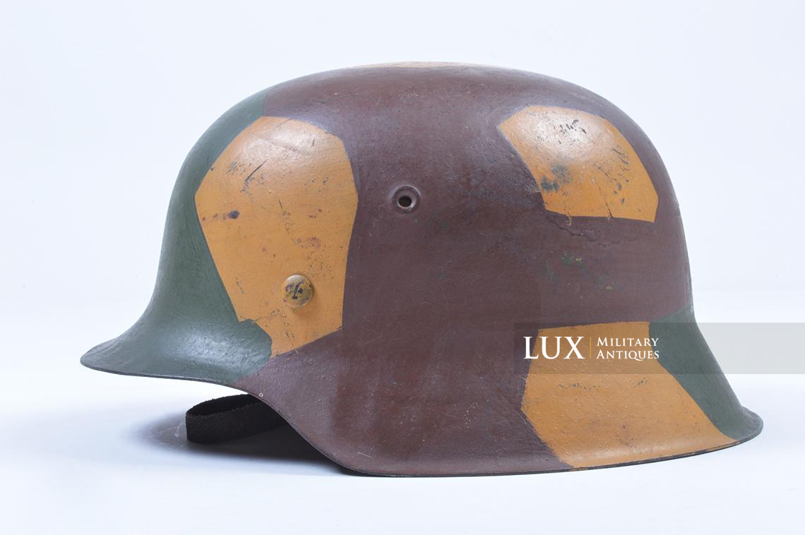 M42 German coastal artillery helmet, geometric camouflage pattern - photo 7