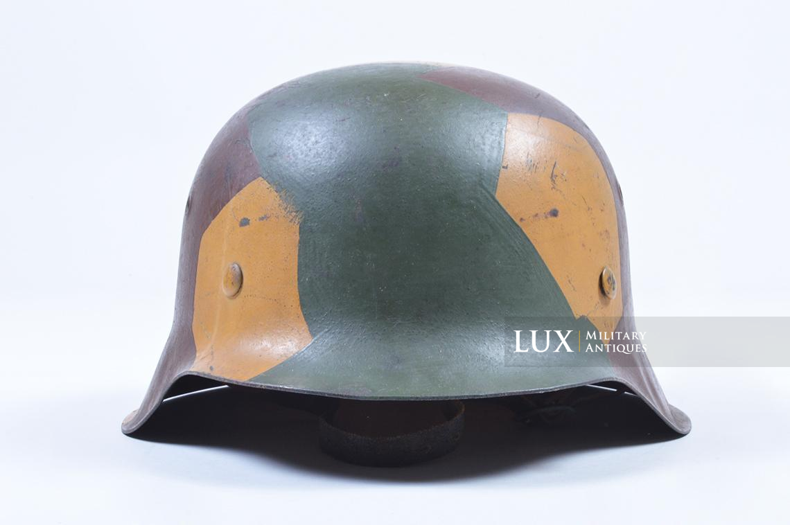 M42 German coastal artillery helmet, geometric camouflage pattern - photo 9