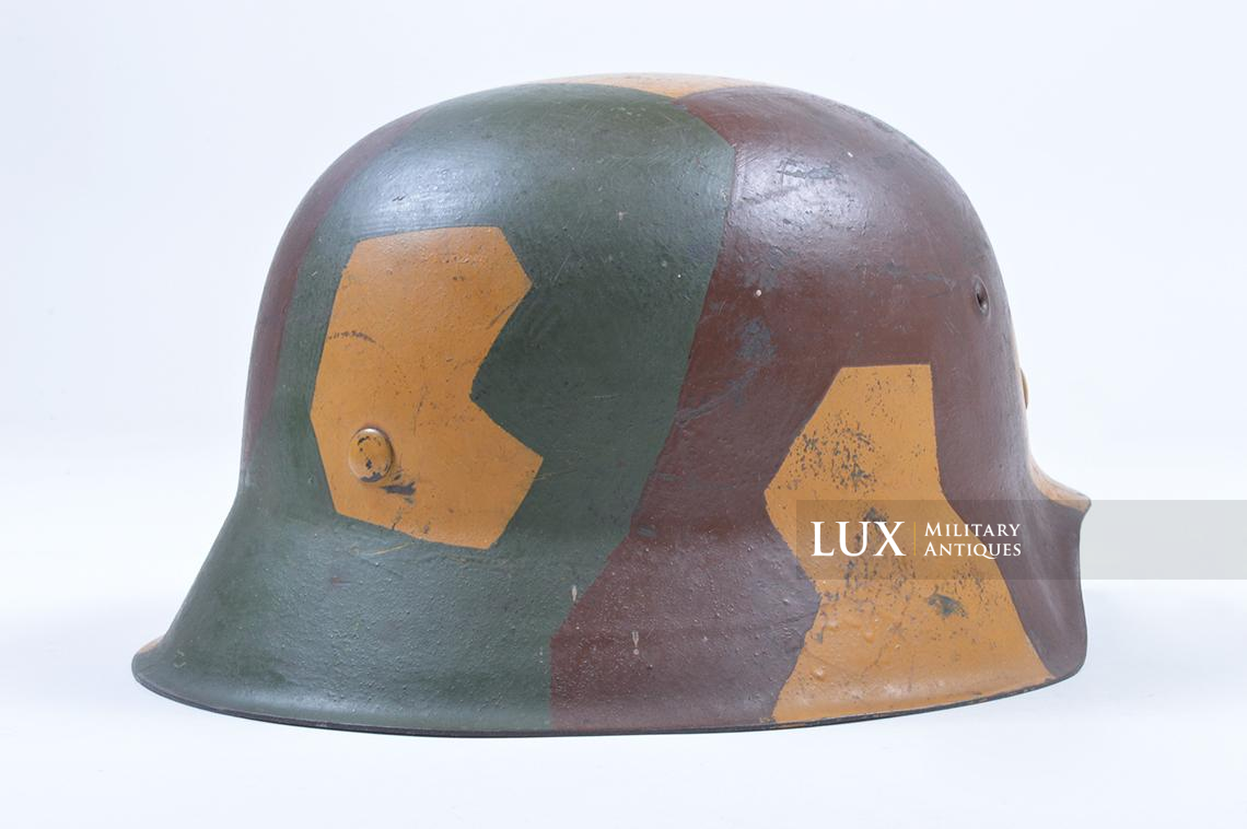 M42 German coastal artillery helmet, geometric camouflage pattern - photo 12