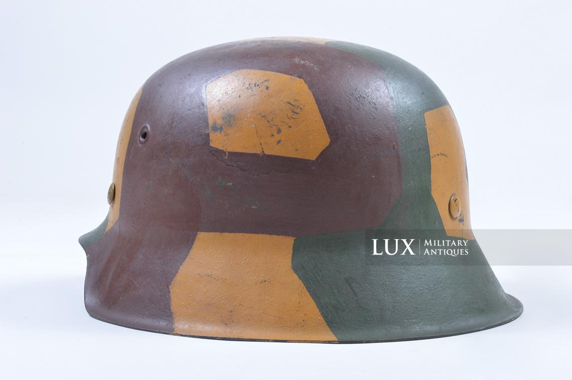 M42 German coastal artillery helmet, geometric camouflage pattern - photo 14