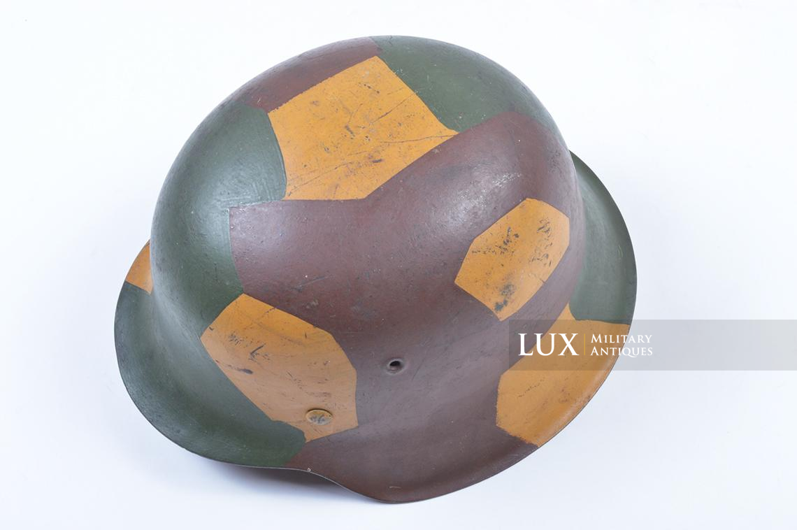 M42 German coastal artillery helmet, geometric camouflage pattern - photo 15