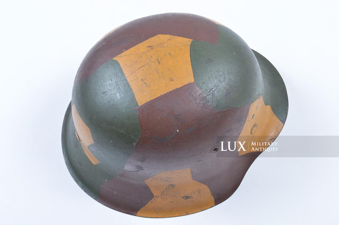 M42 German coastal artillery helmet, geometric camouflage pattern - photo 16