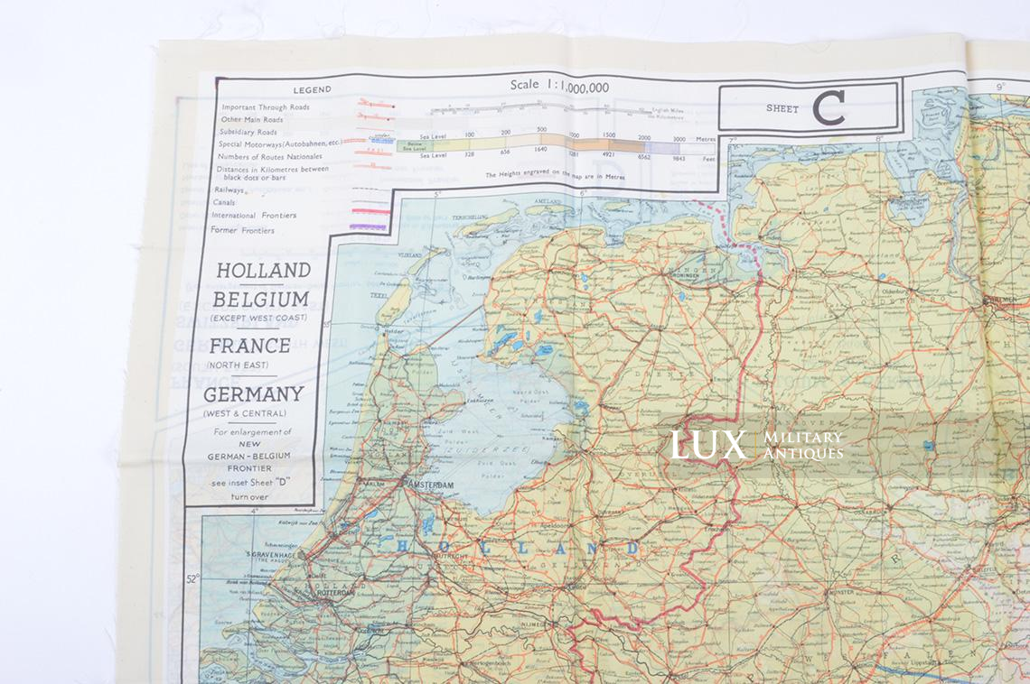 Map Of France Holland And Germany.Silk Map Sheet C D France Germany Holland Belgium