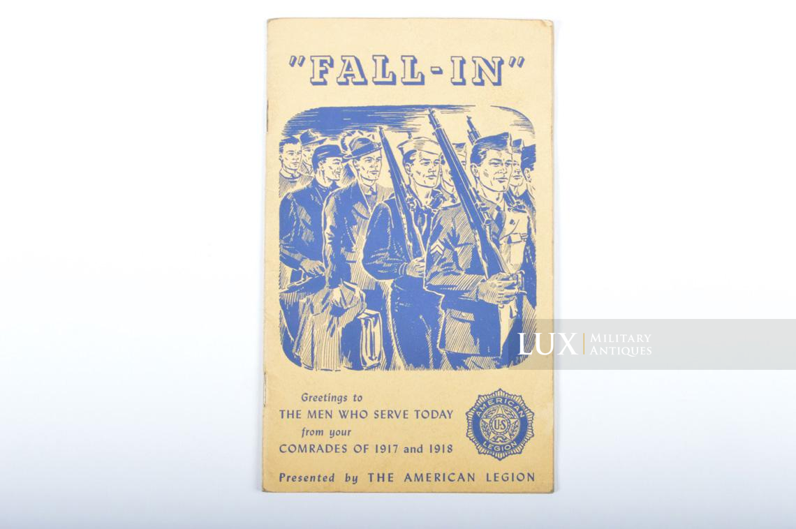 US enlistment brochure, « Fall-in / The American Legion » - photo 4
