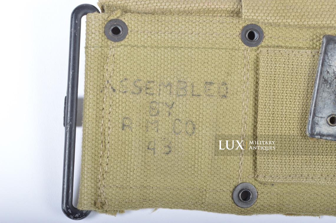 Unissued USM1 Garand cartridge belt, dated 1943 - photo 9