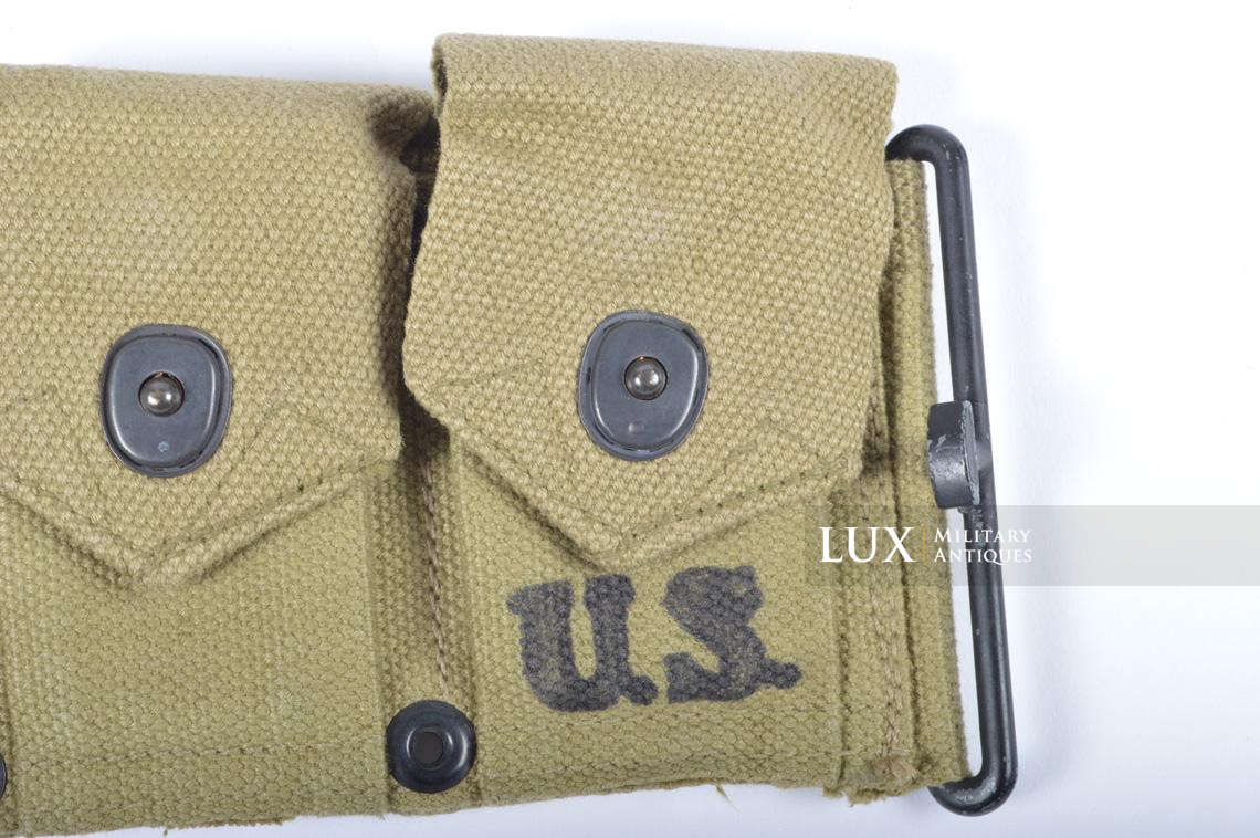 Unissued USM1 Garand cartridge belt, dated 1943 - photo 10