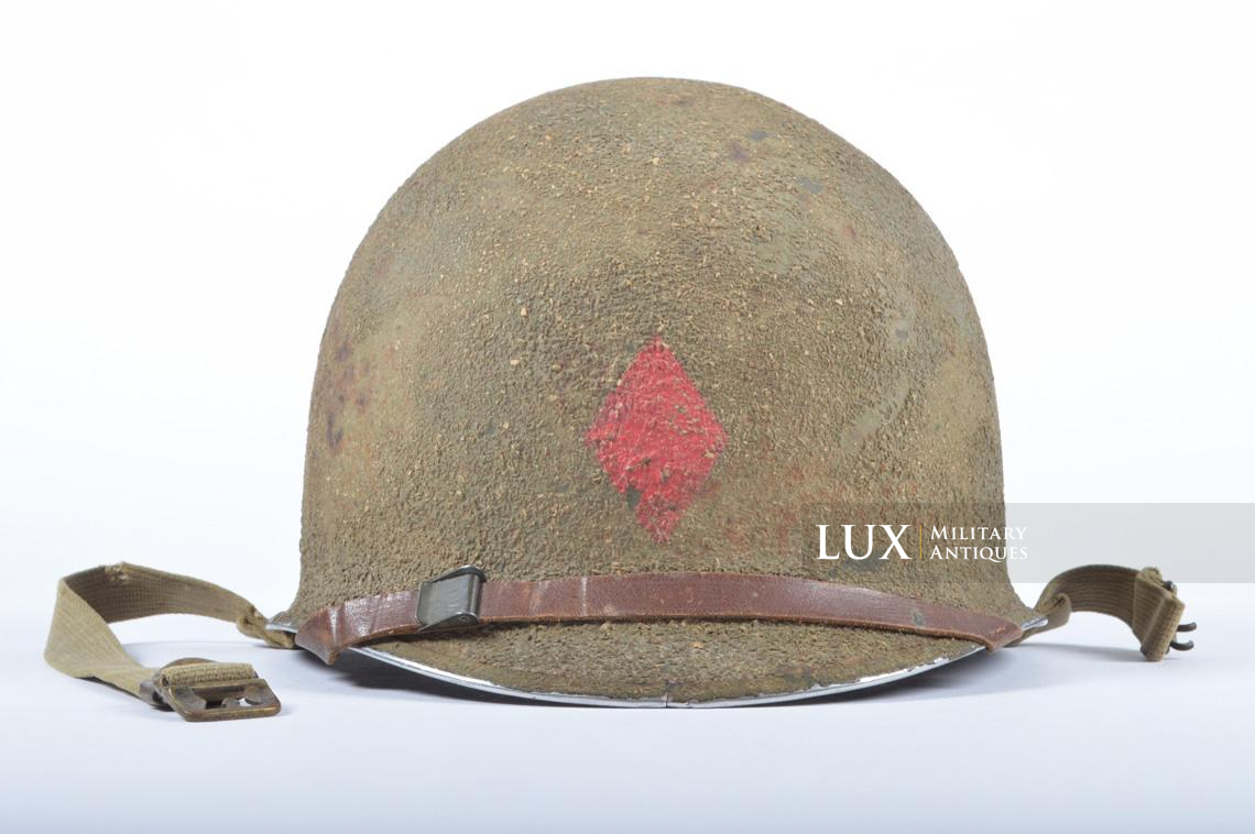 USM1 5th Infantry Division sawdust camouflage helmet set - photo 4