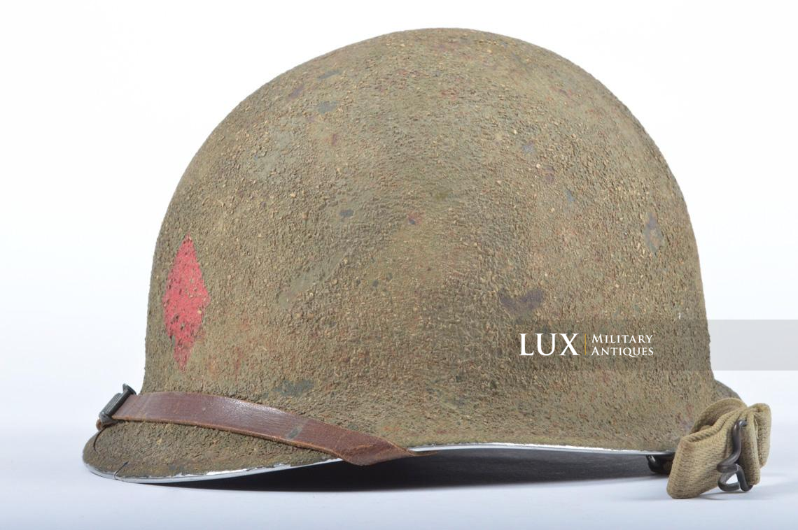 USM1 5th Infantry Division sawdust camouflage helmet set - photo 8