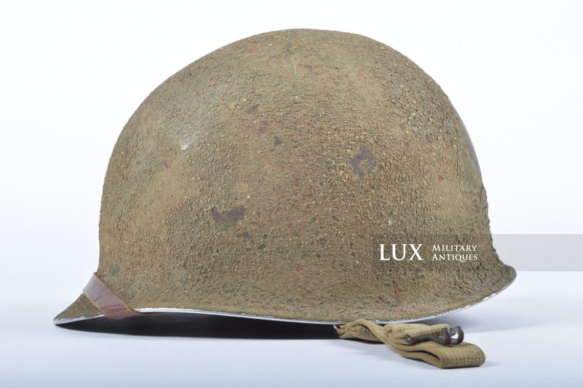 USM1 5th Infantry Division sawdust camouflage helmet set - photo 9