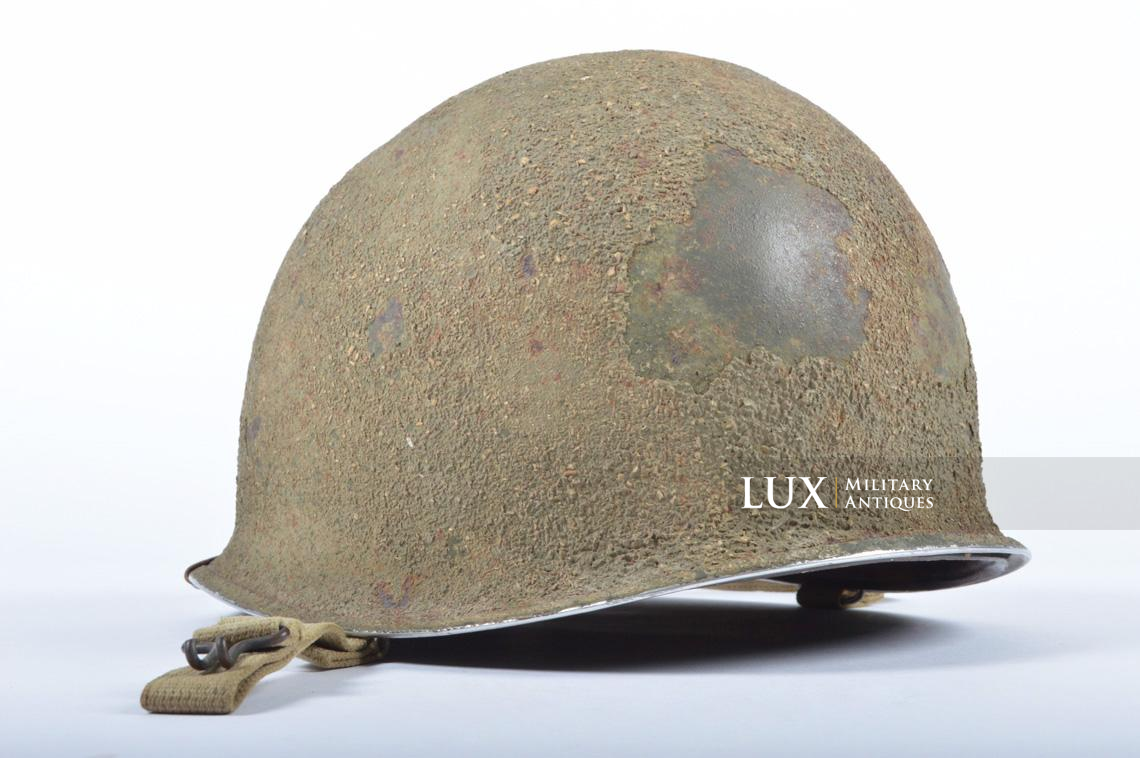 USM1 5th Infantry Division sawdust camouflage helmet set - photo 10