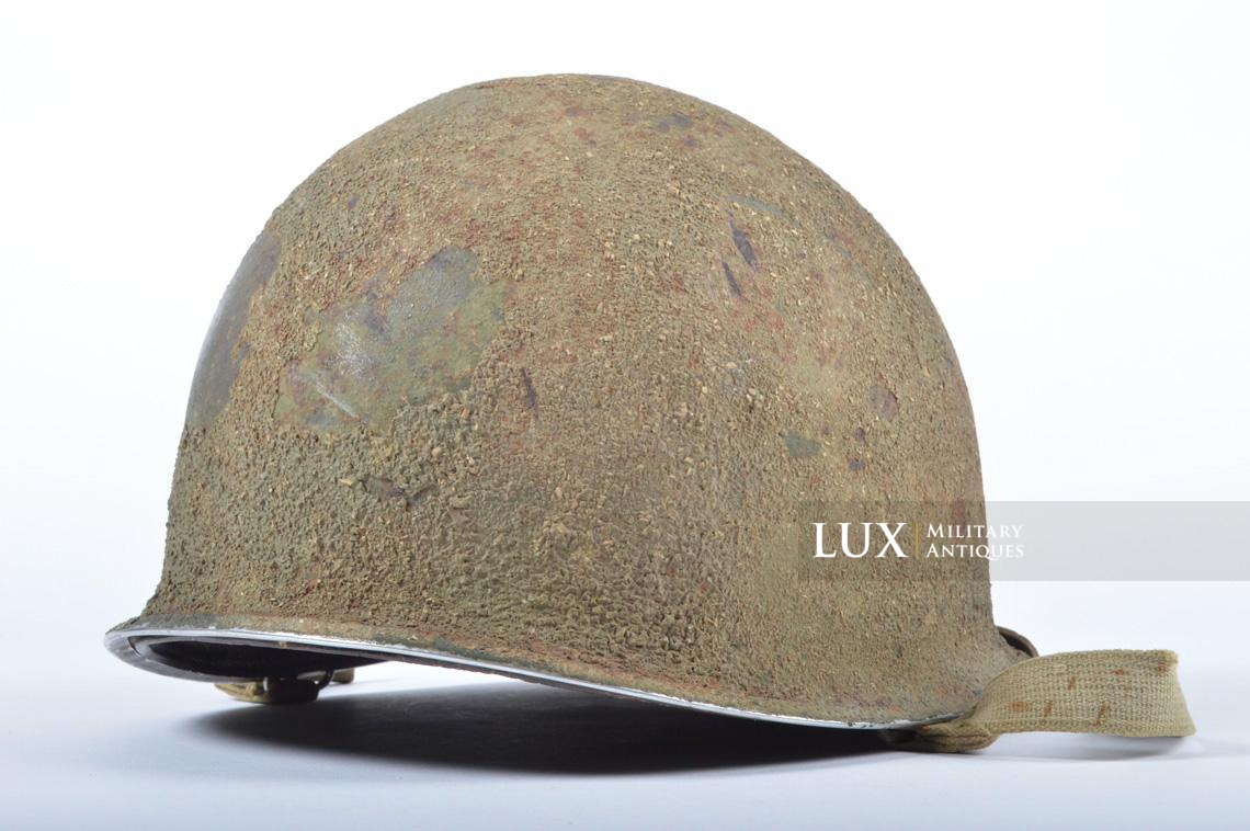 USM1 5th Infantry Division sawdust camouflage helmet set - photo 12