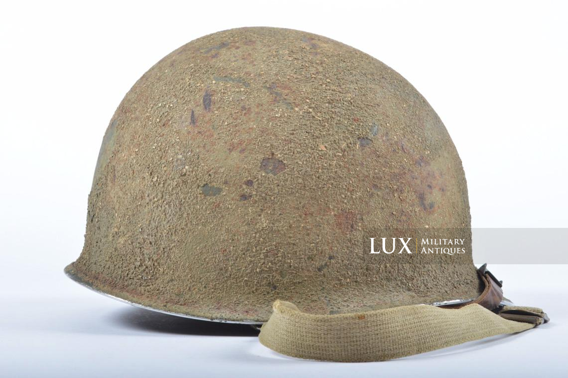 USM1 5th Infantry Division sawdust camouflage helmet set - photo 13