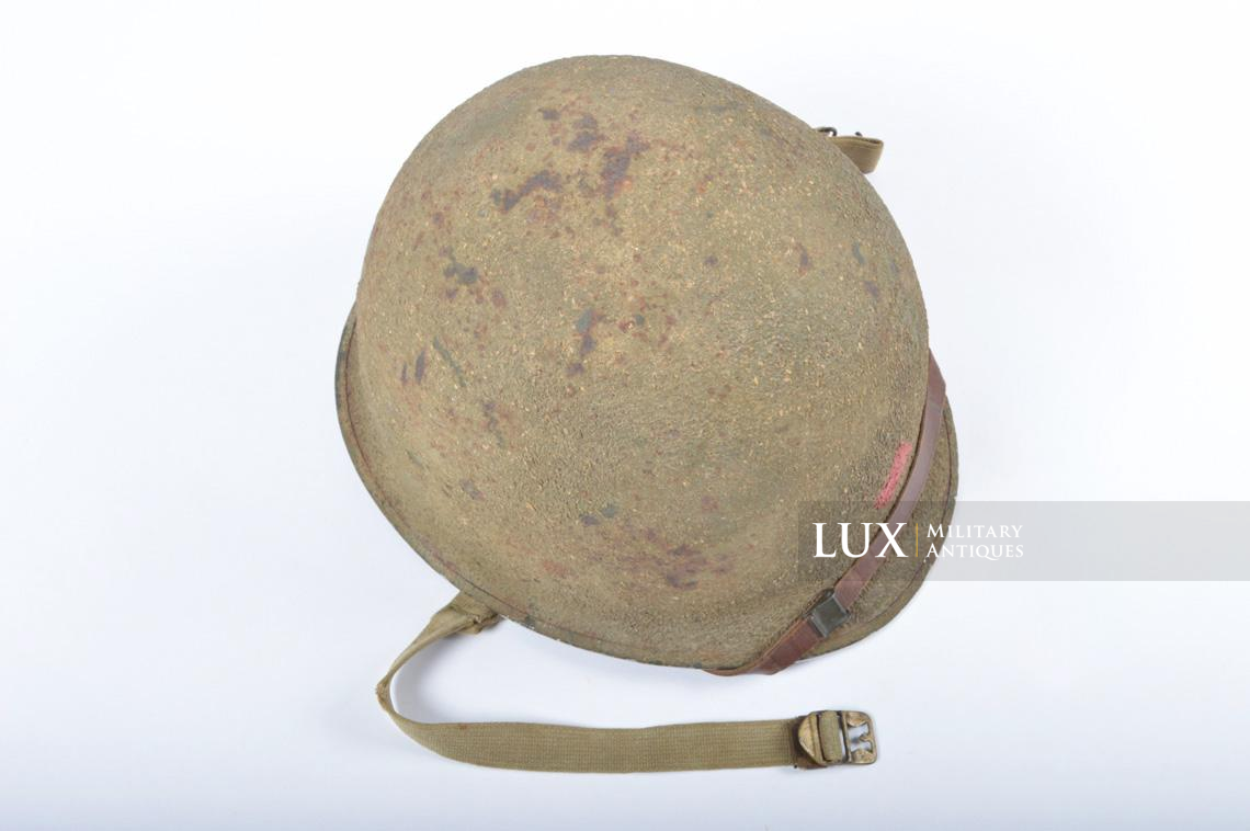 USM1 5th Infantry Division sawdust camouflage helmet set - photo 15
