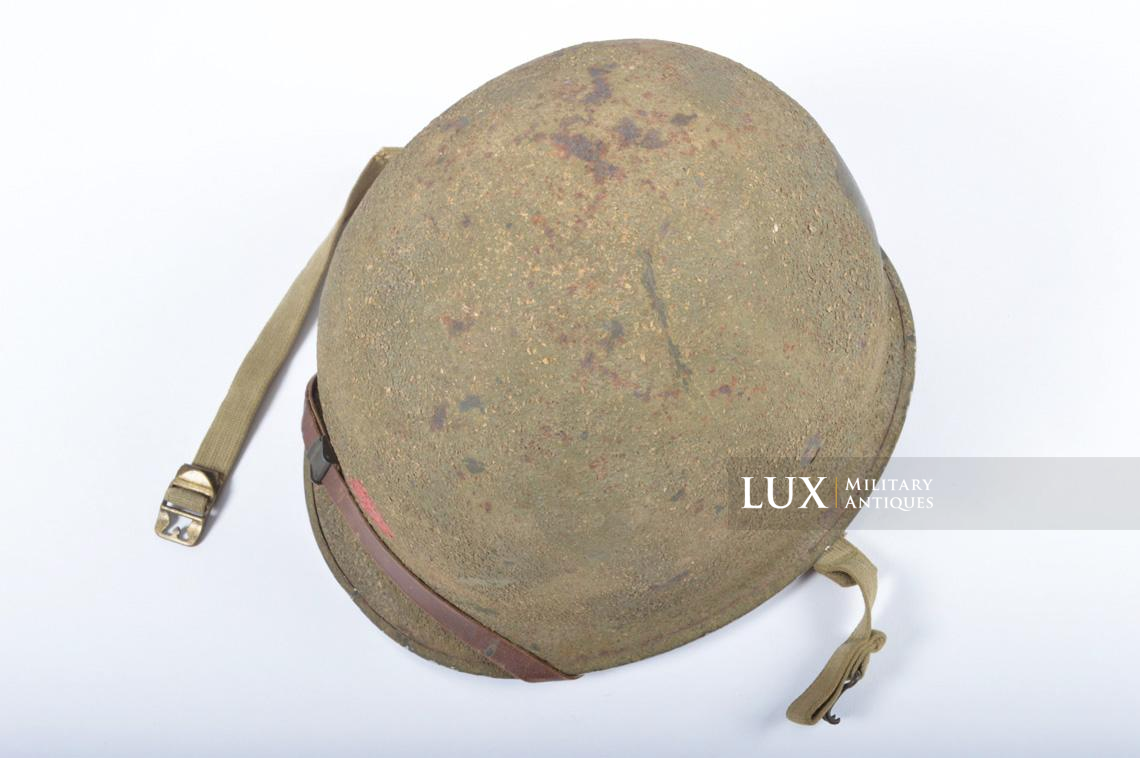 USM1 5th Infantry Division sawdust camouflage helmet set - photo 16