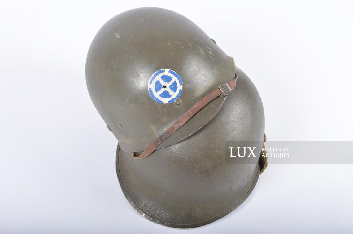 USM1 35th Infantry Division combat helmet and liner - photo 4
