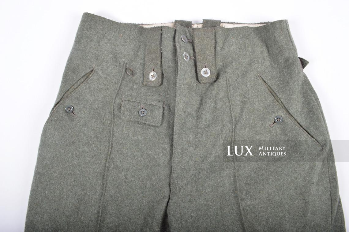 Unissued Heer/Waffen-SS M43 combat trousers, « Keilhose » - photo 15