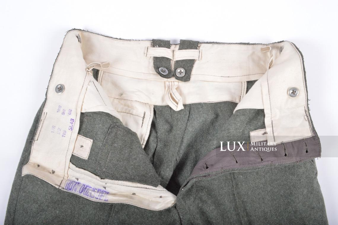 Unissued Heer/Waffen-SS M43 combat trousers, « Keilhose » - photo 20