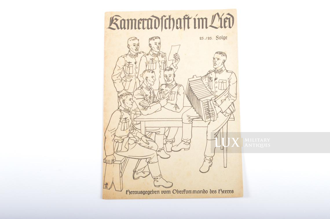 German Soldier's songs leaflet « Kameradschaft im Lied » - photo 4