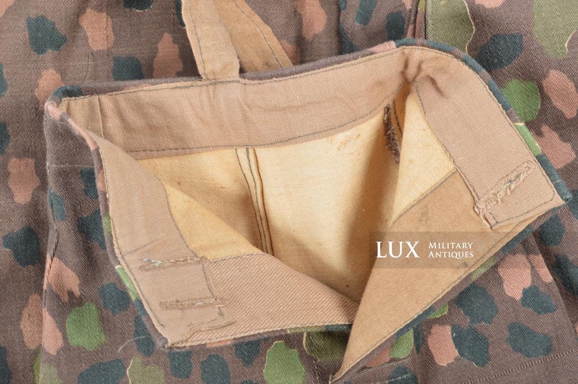 Unissued Waffen-SS M44 dot pattern camouflage trousers, « smooth cotton » - photo 14