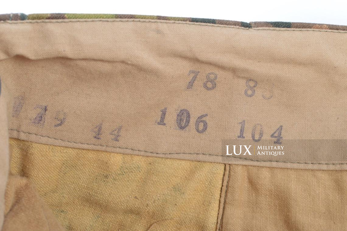 Unissued Waffen-SS M44 dot pattern camouflage trousers, « smooth cotton » - photo 19
