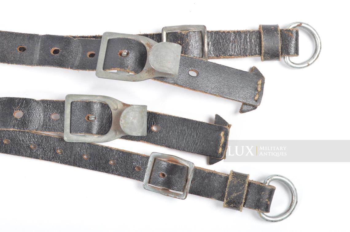 German late-war leather combat Y-straps, « RBNr » - photo 8