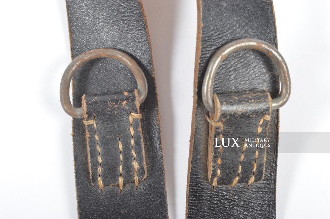 German late-war leather combat Y-straps, « RBNr » - photo 10