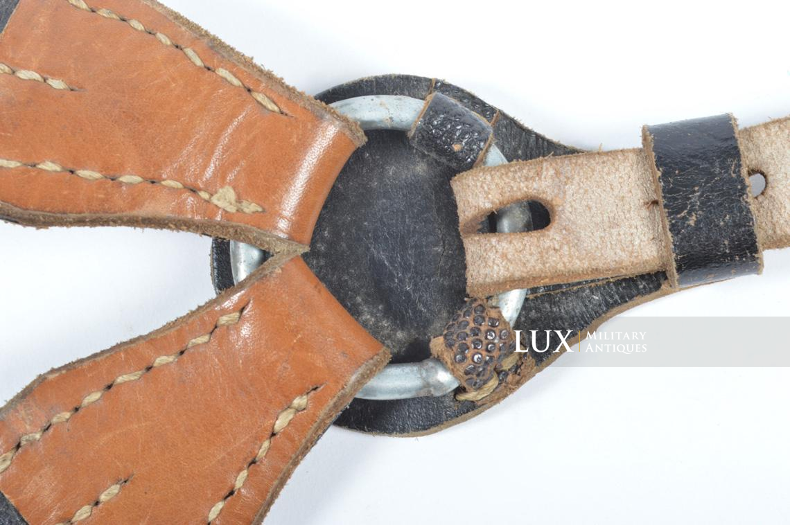 German late-war leather combat Y-straps, « RBNr » - photo 12