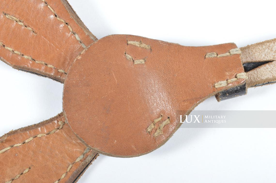 German late-war leather combat Y-straps, « RBNr » - photo 18
