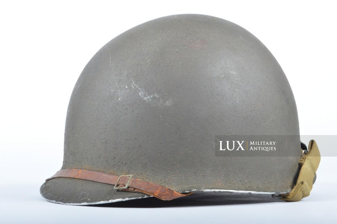USM1 front seam fixed bale combat helmet, « Saint-clair » - photo 4