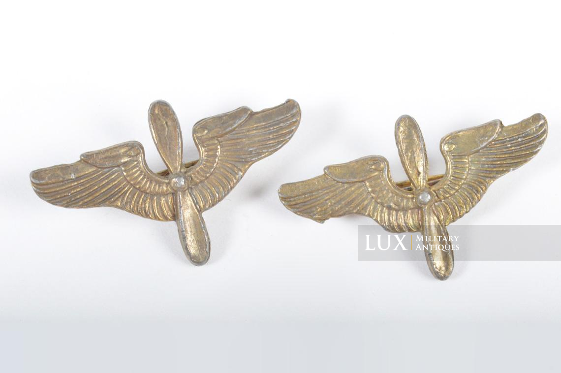 Paire d'insignes de col officier USAAF - photo 4