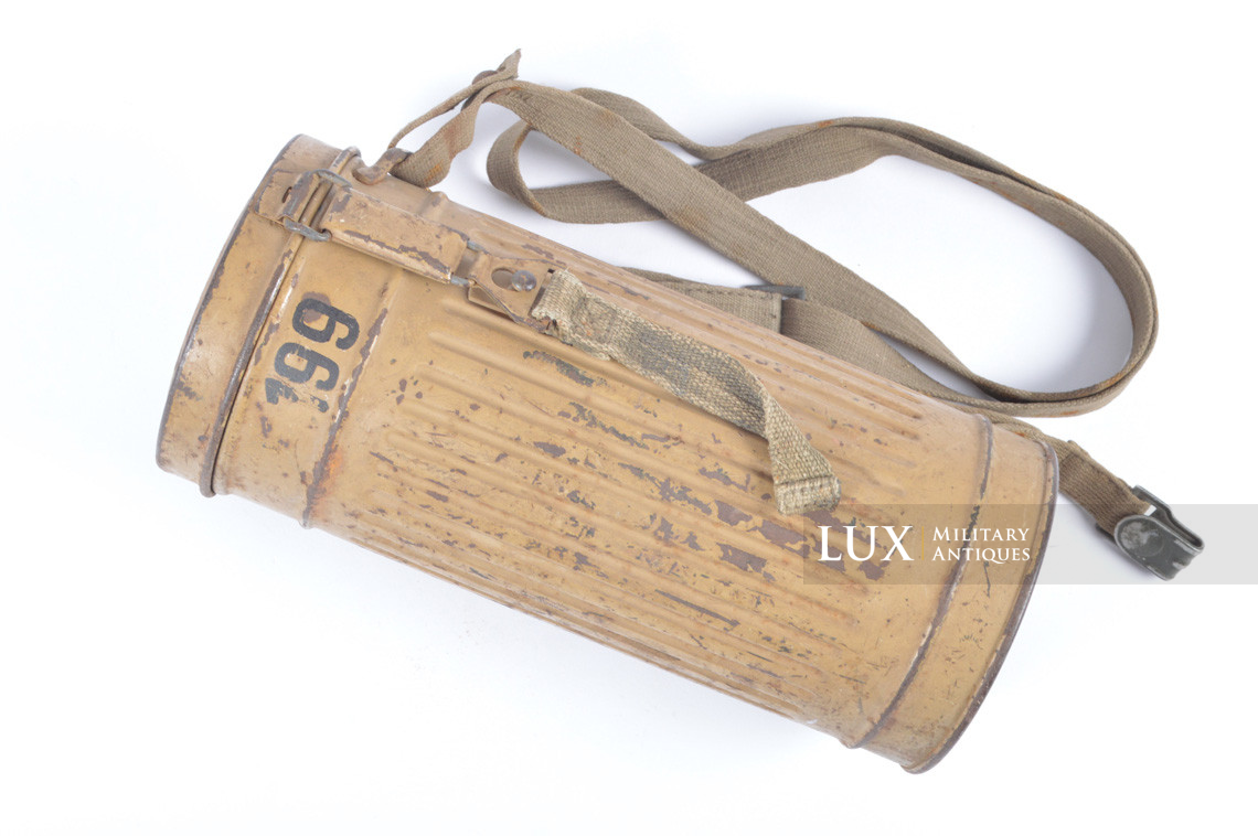 German gas mask canister in tan camouflage, « DAK » - photo 4