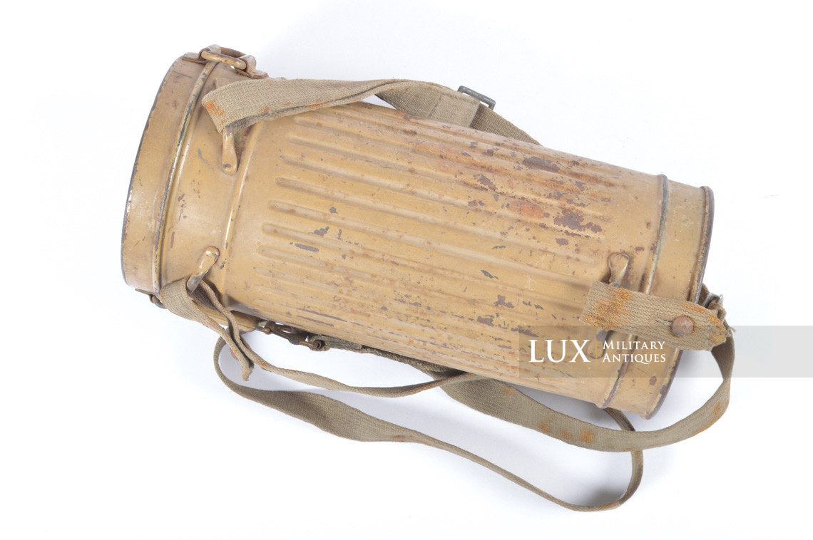 German gas mask canister in tan camouflage, « DAK » - photo 8