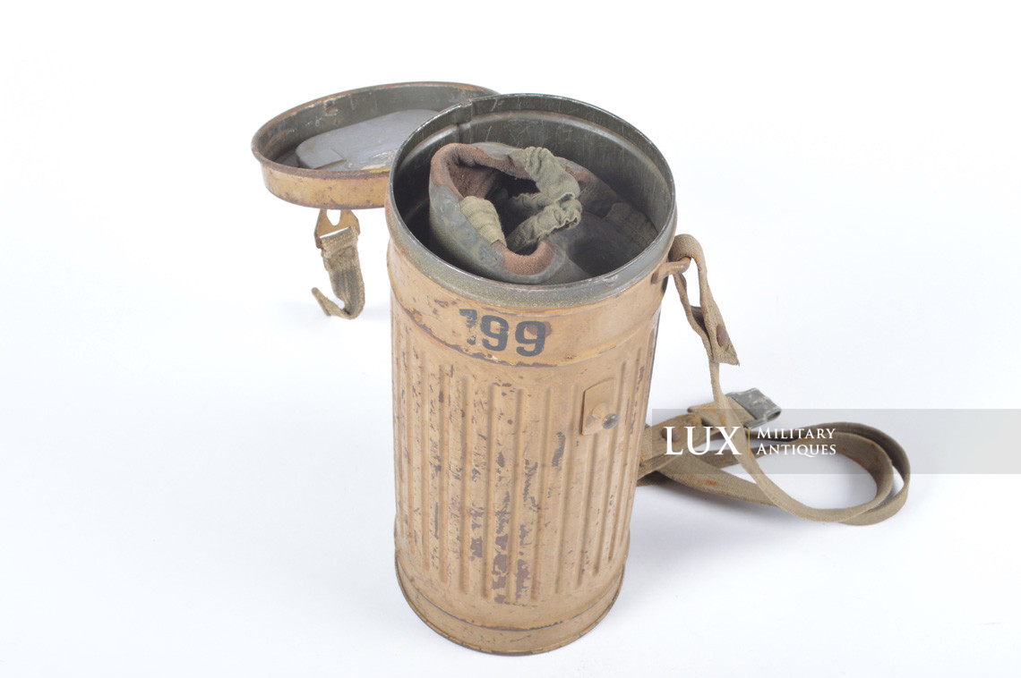 German gas mask canister in tan camouflage, « DAK » - photo 37