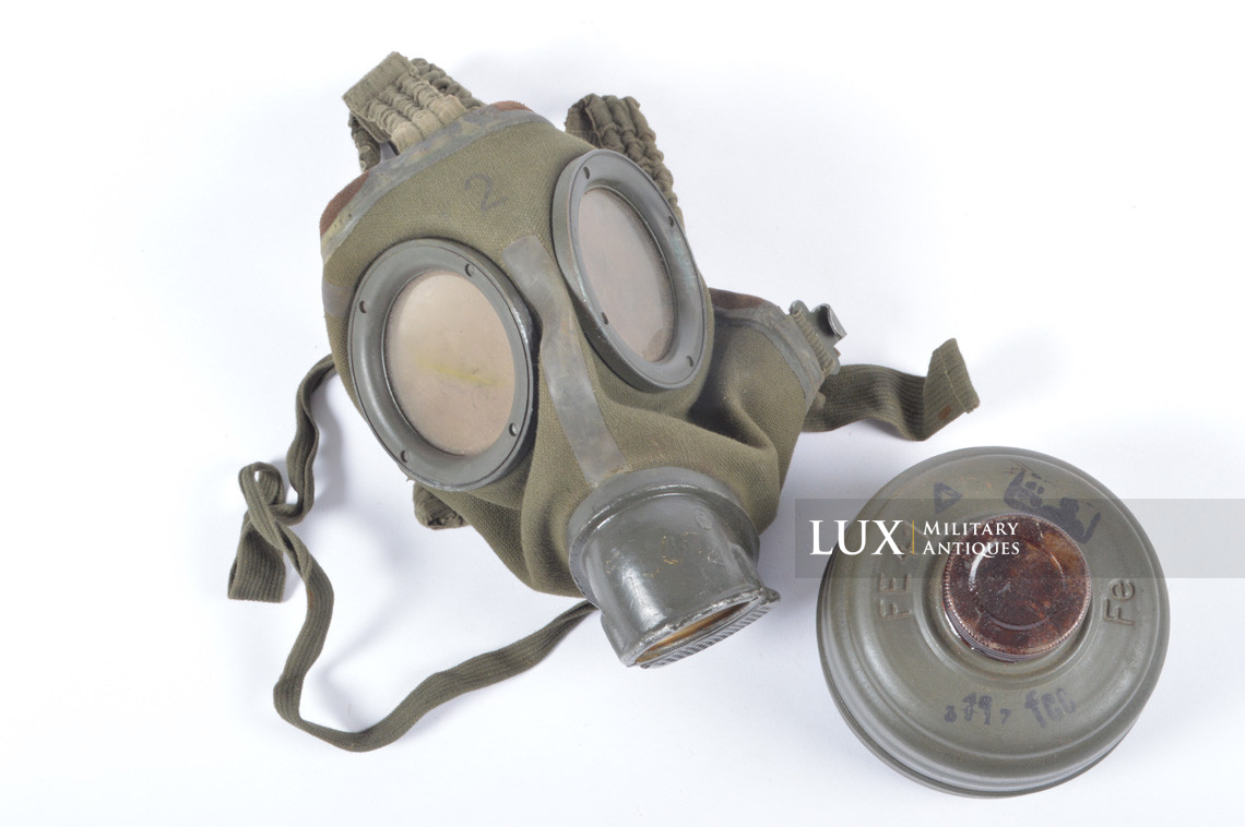 German gas mask canister in tan camouflage, « DAK » - photo 50