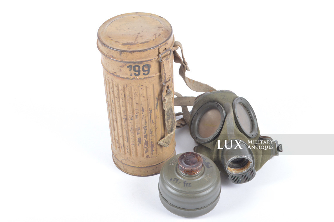 German gas mask canister in tan camouflage, « DAK » - photo 38