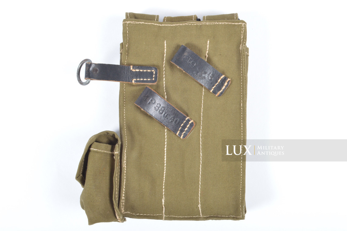Unissued late-war MP38/40 green pouch, « clg43 » - photo 12