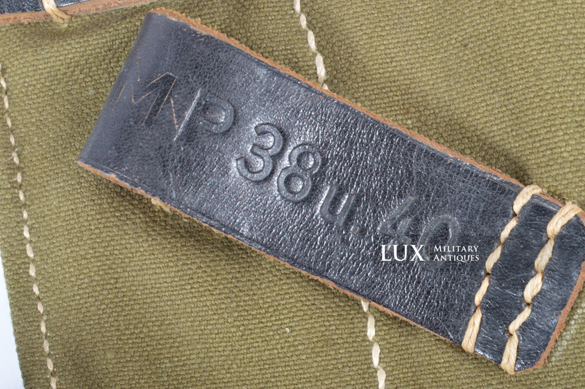 Unissued late-war MP38/40 green pouch, « clg43 » - photo 13