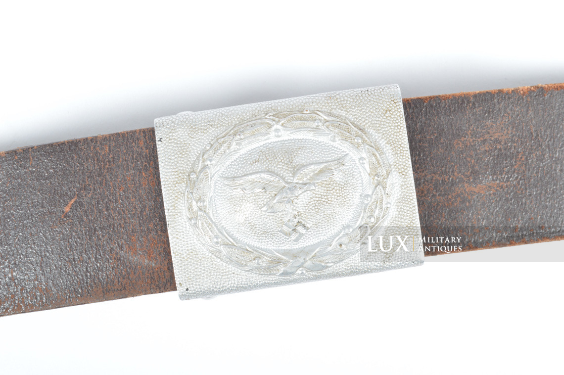 Early Luftwaffe combat belt and belt buckle set, chocolate brown belt, « L.B.A.39 » - photo 4