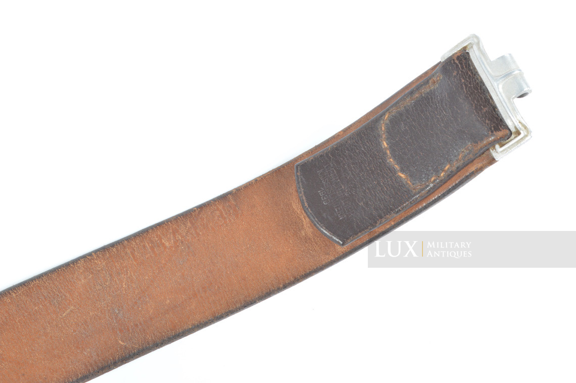 Early Luftwaffe combat belt and belt buckle set, chocolate brown belt, « L.B.A.39 » - photo 23