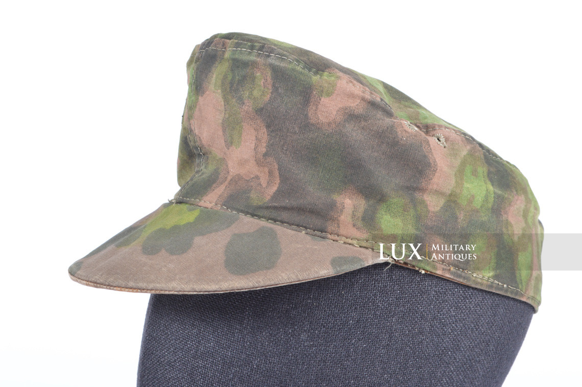 Waffen-SS issued M42 camouflage field cap - photo 4