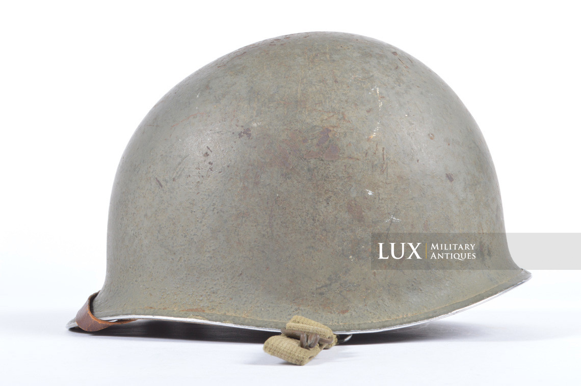 Rare USM1 2nd Infantry Division Chaplain's combat helmet, « Indian Head » - photo 16