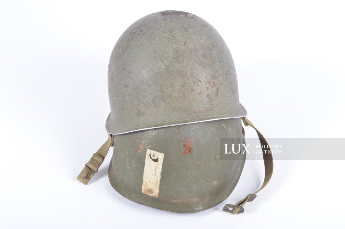 Rare USM1 2nd Infantry Division Chaplain's combat helmet, « Indian Head » - photo 8