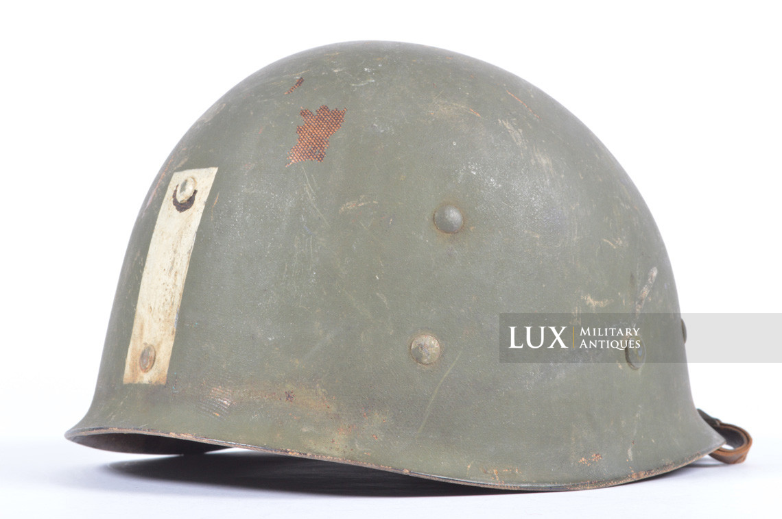 Rare USM1 2nd Infantry Division Chaplain's combat helmet, « Indian Head » - photo 51