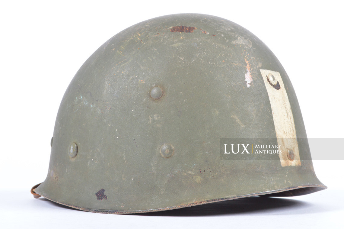 Rare USM1 2nd Infantry Division Chaplain's combat helmet, « Indian Head » - photo 53