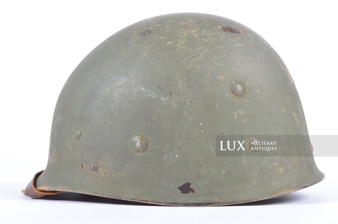 Rare USM1 2nd Infantry Division Chaplain's combat helmet, « Indian Head » - photo 54