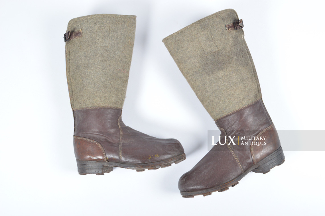 German late-war brown winter combat boots, « RBNr. » - photo 4