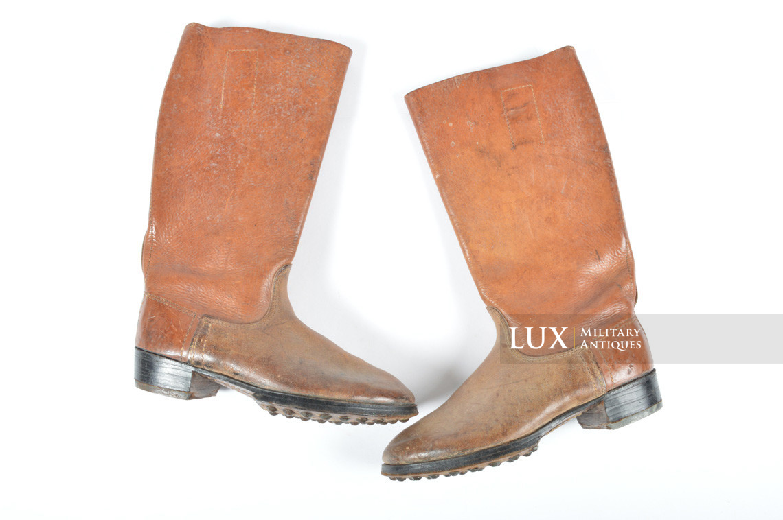 Early-war Luftwaffe issue brown jackboots, « 1939 » - photo 4