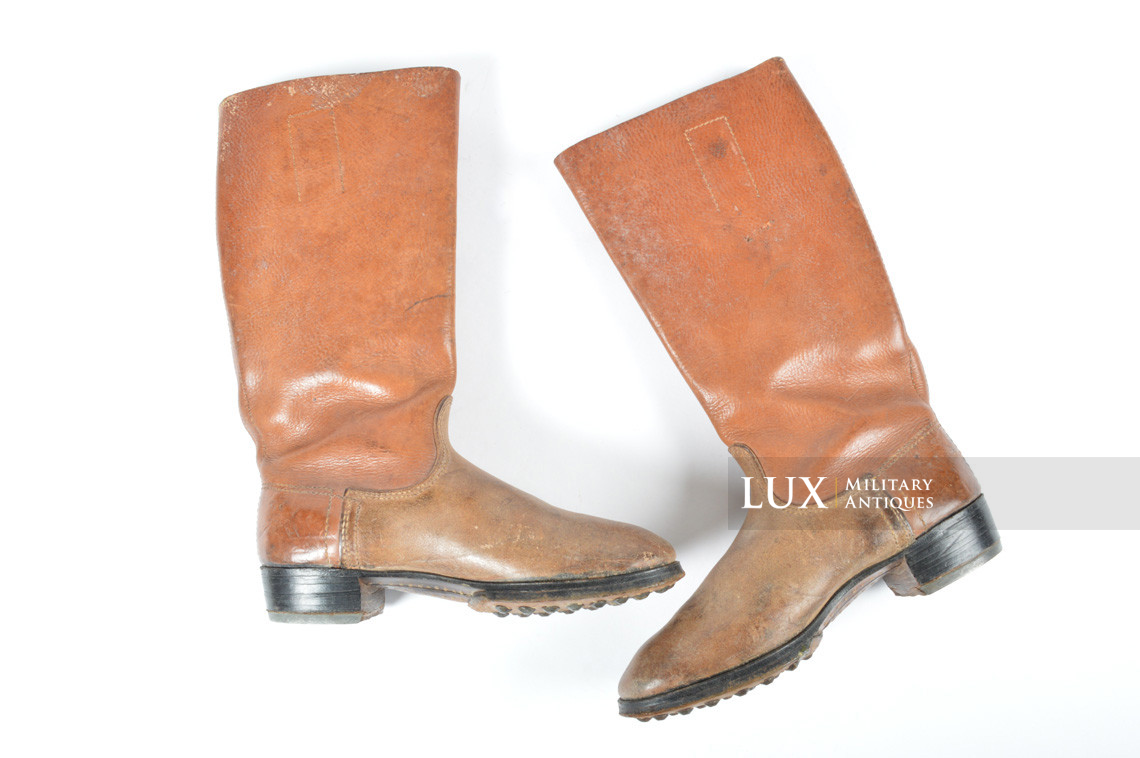 Early-war Luftwaffe issue brown jackboots, « 1939 » - photo 7
