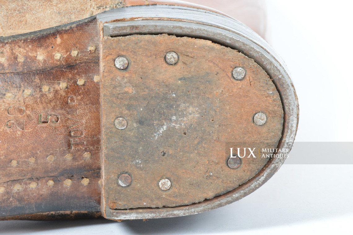 Early-war Luftwaffe issue brown jackboots, « 1939 » - photo 16
